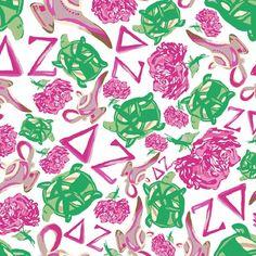 Delta Zeta print by Francesca Joy https://www.facebook.com/francescajoypalmbeach