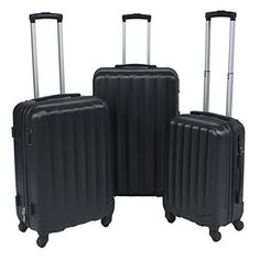 Luggage Sets Collections | Best Choice Products 3 Piece Travel Luggage Set Bag ABS Hardshell Trolley Suitcase TSA Lock Black >>> For more information, visit image link. Note:It is Affiliate Link to Amazon.