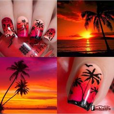 25 SUPER COOL IDEAS TO DESIGN YOUR NAILS .... Sundown