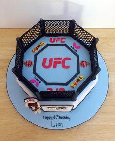 ufc themed novelty birthday cake
