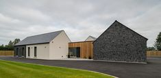 Award-Winning Northern Ireland architects, based in Ballymena, working in Northern Ireland, Ireland, & the rest of the UK. Specialising in contemporary & traditional architecture. Simple Bungalow House Designs, Bungalow Haus Design, Modern House Design, Modern Houses, Simple House, Bungalow Exterior, Cottage Exterior, Village House Design, Village Houses