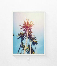 Palmen - Druckversion  SOFORT-DOWNLOAD  Drucken Sie dieses moderne Wand-Kunstwerk von Ihrem Computer zu Hause oder lokalen Druckerei Stil und