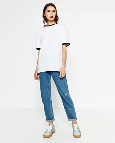 Image 1 of UNGENDERED CONTRAST T-SHIRT from Zara