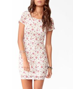too short, but I love the simple, graceful styling - Colored Lace Bodycon Dress | FOREVER21 - 2000049055