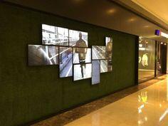 multiple screens display one video