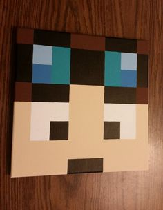 Dan TDM, Diamond Minecart, Minecraft bedroom decor, minecraft painting