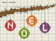 noël - christmas - boule - noël - point de croix - cross stitch - Blog : http://broderiemimie44.canalblog.com/
