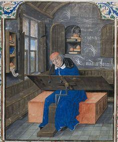 Simon De Hesdin au travail dans son cabinet 1479 par un maître anonyme Bruges au XVe siècle