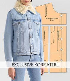 Выкройка джинсовой женской куртки - фото Aprendiz 9d64895a02f8