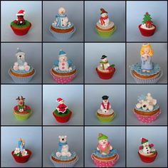 Christmas cupcakes | Flickr: Intercambio de fotos