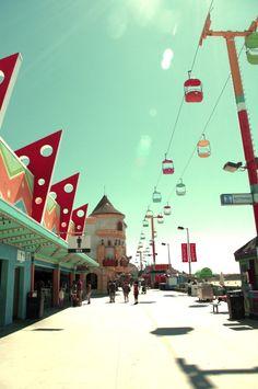 vintage | sky glider | santa cruz beach boardwalk | santa cruz, california