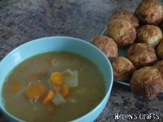 Chicken Peanut Soup and Cheese Balls Week 38
