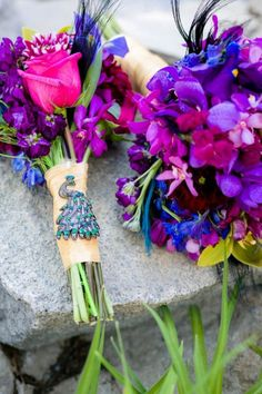 Baroque Peacock Inspired Wedding In Jewel Tones of Purple, Green & Turquoise | Photograph by Eric Asistin Photography http://www.storyboardwedding.com/baroque-style-enchanted-outdoor-garden-peacock-inspired-wedding/