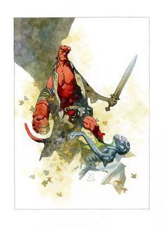Comic Book Artists, Comic Artist, Comic Books Art, Hellboy Tattoo, Hellboy Movie, Mike Mignola Art, Hollywood Monsters, Lil Peep Hellboy, Comic Layout