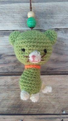 keyring cat Animaux et porte clés keychain - AmiguruMINE ! Mes Amigurumis crochet