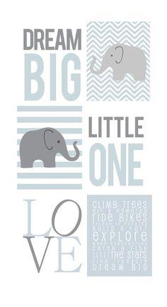 Printed Typography Wall Art for Nursery Baby Girl by TwoFishPrints