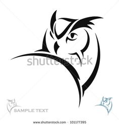 Owl portrait - vector by Petrovic Igor, via Shutterstock