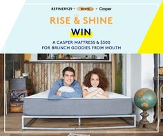 Enter to win a new mattress and breakfast in bed! Enter now: http://r29.co/1DcXMUU?utm_campaign=naytev&utm_content=55c83c7ae4b0e54b530e0a94