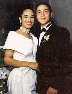 Selena Quintanilla and Chris Perez wedding photo ~ April 2, 1992
