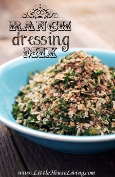 Ranch Dressing Mix Recipe. Great for making dressing, dips, or sprinkling on veggies!