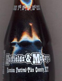 2001 Hatfields  McCoys Reunion Coca-Cola Coke Bottle