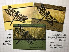 Stampin' Up! Dragonfly Dreams Bundle with Serene Scenery Paper, Kay Kalthoff, Stampin' Up! Card Ideas, Facebook Live Video and Chat, #stampingtoshare, #fabfriday