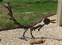 roadrunner welded from railroad spikes - Google Search