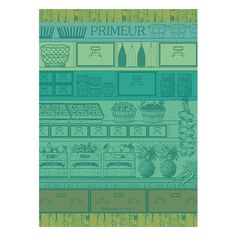 """Primeur Vert Kitchen Towel 22""""X30"""" ($21) ❤ liked on Polyvore featuring home, kitchen & dining, kitchen linens, cotton tea towels and cotton kitchen towels"""
