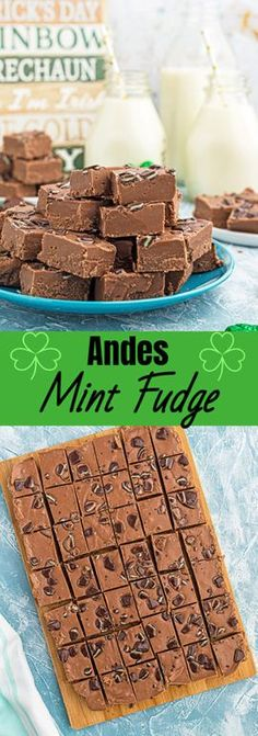 An easy recipe for Andes Mint Fudge! Rich, mint chocolate flavored Andes fudge will quickly become one of your favorite fudge recipes! Bakery Recipes, Fudge Recipes, Best Dessert Recipes, Easy Desserts, Cookie Recipes, Delicious Desserts, Sweet Desserts, Amazing Recipes, Copycat Recipes