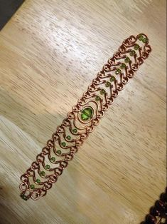 Crystal Waves Copper Bracelet. Craft ideas from LC.Pandahall.com