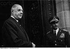 French President Charles De Gaulle on a state visit to Tehran in 1963 meets Mohammad Reza Shah. The French president had once visited Tehran in 1945 during Morteza Gholi Bayat administration.