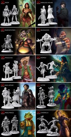 Beautifully sculpted Fairytale Miniatures you can collect or use with the Fairytale Games Universe, based on artwork from our games! - Sep 2014