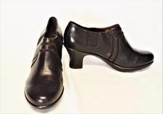 NEW Dansko Banks 10.5-11/41 Shoe Boots Black Leather Suede Heels Gussets Booties #Dansko #BootiesShoeBoots #CasualDressy