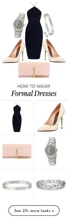 """""""Formal wear"""" by fashi0nenthusiast on Polyvore featuring Tom Ford, Yves Saint Laurent, Rolex, Cartier and Effy Jewelry"""