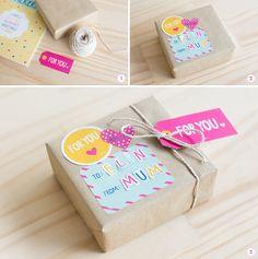 Kikki K Inspiring Gift Wrapping Kikki K, Diy Paper, Paper Crafts, Diy Crafts, Brand Packaging, Gift Packaging, Brown Paper Packages, Present Gift, Christmas Wrapping