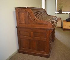 "Gunn Roll Top Desk C 1890 Grand Rapids Mich Tiger Quarter Sawn Oak 60"" | eBay"