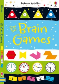 Over 50 Brain Games  A book of mind-bending puzzles and riddles to put the whole family's brain power to the test.  http://www.usborne.com/catalogue/book/1~PZ~PBPC~8873/over-50-brain-games.aspx  #brain #game #puzzle #test #memory #logic #riddle #skill #book #children #Usborne #paperback #spotting #counting #matching