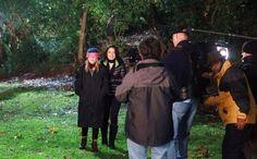Arizona Robbins (Jessica Capshaw) & Callie Torres (Sara Ramirez). Calzona. Capmirez. Grey's Anatomy BTS.