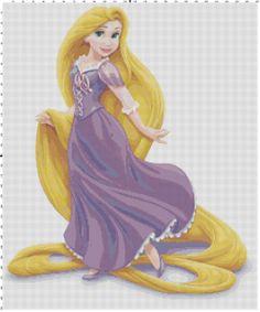 Rapunzel Tangled cross stitch pattern PDF by Bluegiantstitch, £2.30