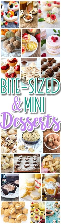 The BEST Bite Size Dessert Recipes - Mini, Individual, Yummy Treats, Perfectly Pretty for Your Baby and Bridal Showers, Birthday Party Dessert Tables - Holiday Celebrations! Dreaming in DIY Mini Desserts, Individual Desserts, Bite Size Desserts, Köstliche Desserts, Dessert Recipes, Holiday Desserts, Elegant Desserts, Summer Desserts, Desserts
