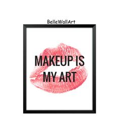 Gold Leaf the kiss- makeup artist typography quote - Google Search