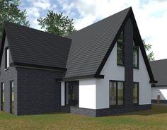 Woning Dordrecht BONGERS architecten bnaBONGERS architecten bna Project R, Building Design, Future House, Facade, Villa, Outdoor Decor, Home Decor, Modern Houses, Houses