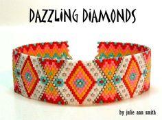 DAZZLING DIAMONDS Bracelet Pattern | Bead-Patterns