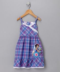 Take a look at this Disney Blue Plaid Snow White Sundress - Girls  by Enchanted Princess: Dress-up & Apparel on #zulily today!
