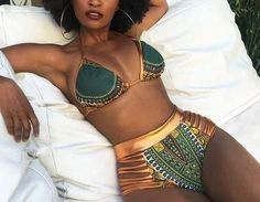 0. African Clothing Traditional 2 PIECES BIKINI..