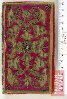 1571 Italian embroidered bookbinding