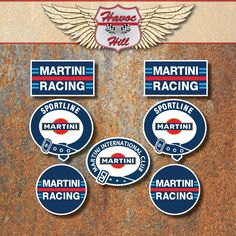 Martini Racing Club StickerS Set Porsche Lancia Le Mans Rally Motorsport Decals