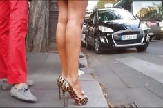 #high #heels #legs #sexy #slippers #street