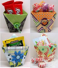 67 ideas for diy paper bag crafts treat holder Diy Paper Bag, Paper Bag Crafts, Candy Crafts, Paper Gifts, Easter Crafts, Holiday Crafts, Crafts For Kids, Envelope Punch Board, Treat Holder