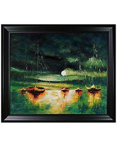 'Boats (with Moon)' by Justyna Kopania